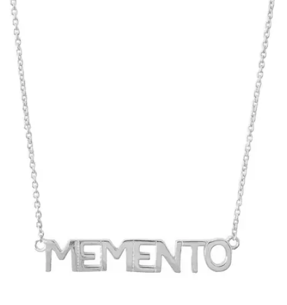 Memento Nameplate Necklace - Silver