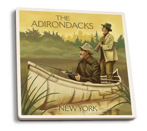 Adirondacks Hunters in Canoe Coaster