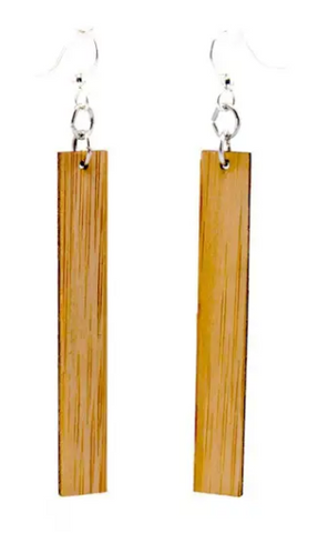 Rectangle Bamboo Earrings