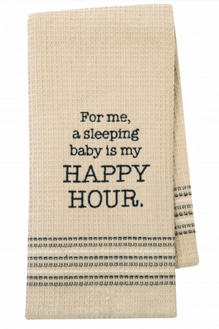 Sleeping Baby Happy Hour Dishtowel