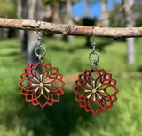Dahlia Flower Blossom Earrings