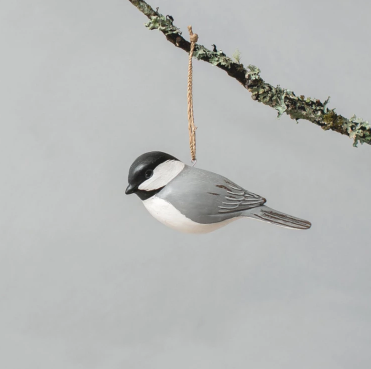 Hanging Chickadee Ornament