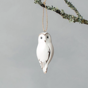 Hanging Barn Owl Ornament