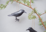 Hanging Crow Ornament