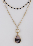 Layered Teardrop Pendant Necklace