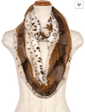 Soft Animal Print Infinity Scarf (Multiple Colors)
