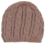 Knitted Weaved CC Beanie (Multiple Colors)