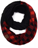CC Buffalo Check Infinity Scarf (Multiple Colors)