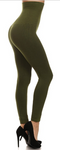 High Waist Fleece-Lined Leggings (Multiple Colors) - One Size (2-10)