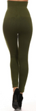 High Waist Fleece-Lined Leggings (Multiple Colors) - One Size (0-8)