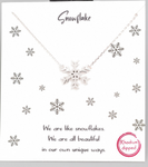 Silver Snowflake Charm Necklace