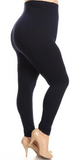 High Waist Non-Fleece-Lined Leggings (Multiple Colors) - One Size (10-20) Plus
