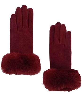 Faux Fur Touch Gloves (Multiple Colors)