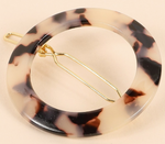 Round Acetate Hair Clip (Multiple Colors)