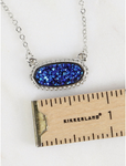 Druzy Gemstone Necklace (Multiple Colors)