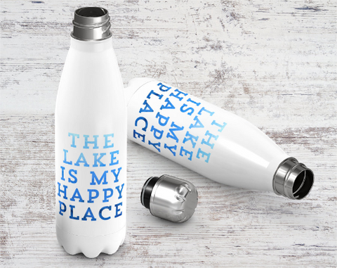 The Lake Happy Place Stainless Bottle