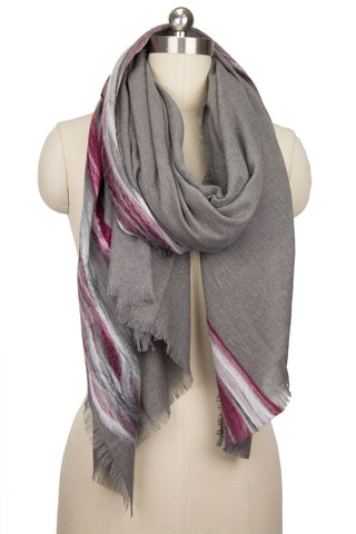 Linear Scarf - Charcoal Grey