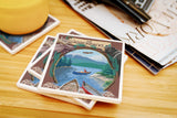 Canoe Scene Framed - Adirondacks New York Coasters