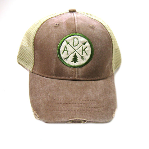 Adirondacks ADK Arrow Distressed Trucker (Multiple Colors)