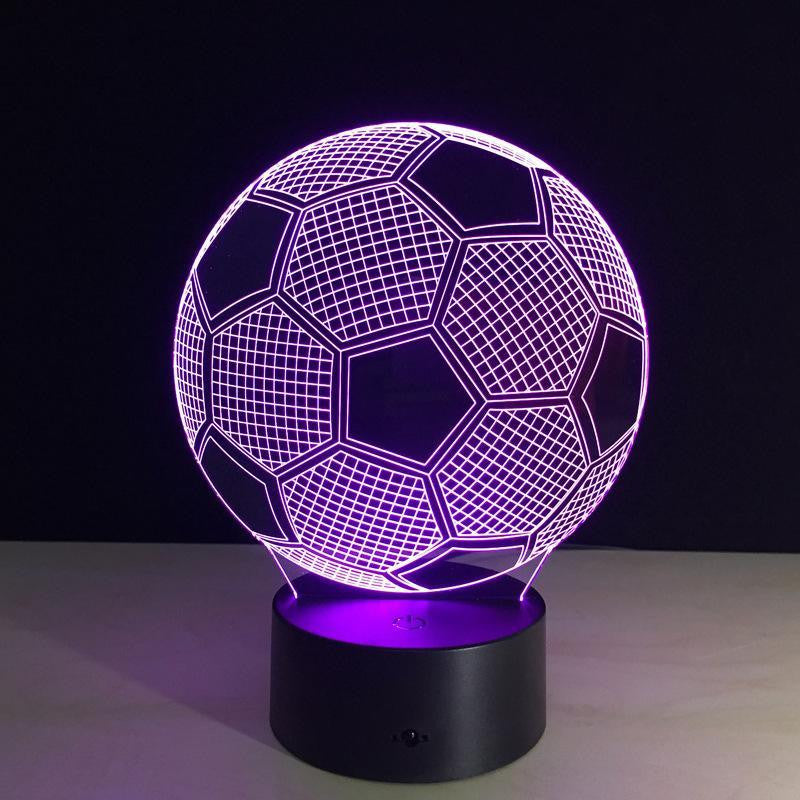 Soccer Ball - 3D Optical Lamp Night Light - carve-craftworks-llc