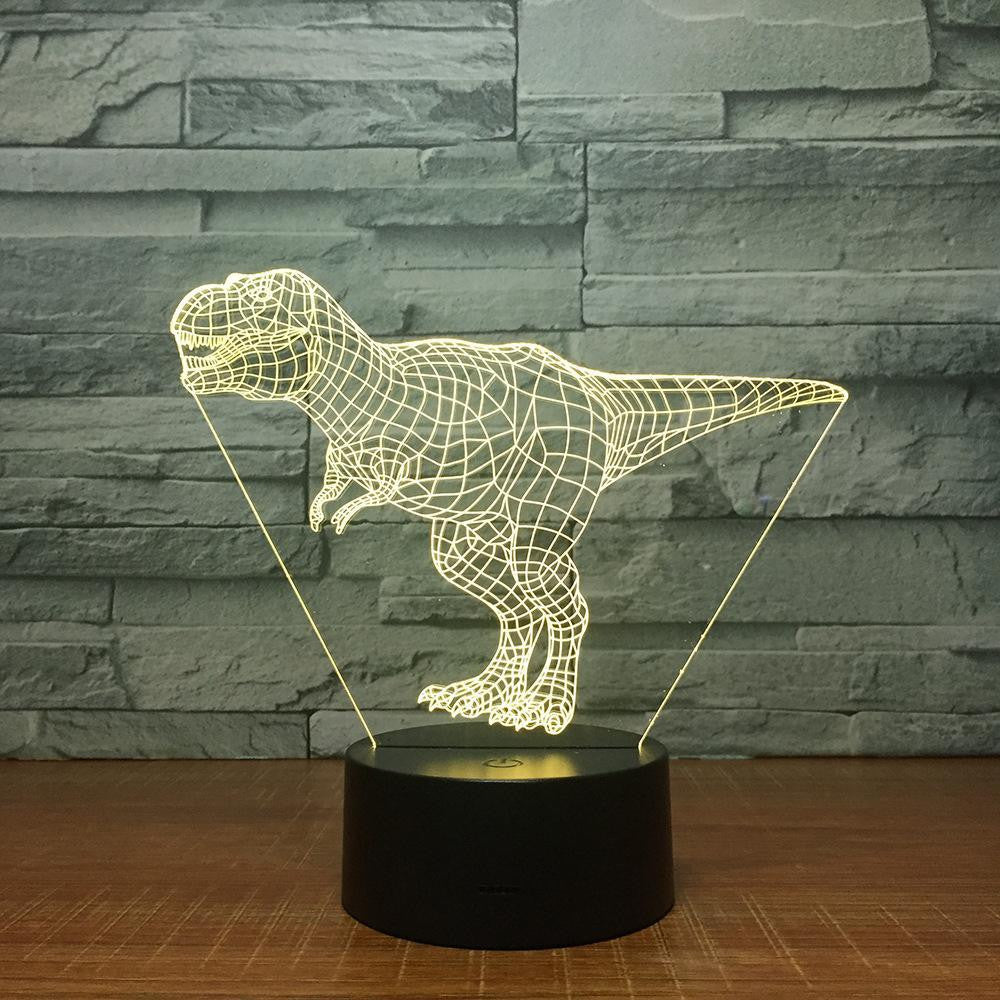 Jurassic Tyrannosaurus Rex Dinosaur - 3D Optical Illusion Lamp Night Light - Carve Craftworks, LLC