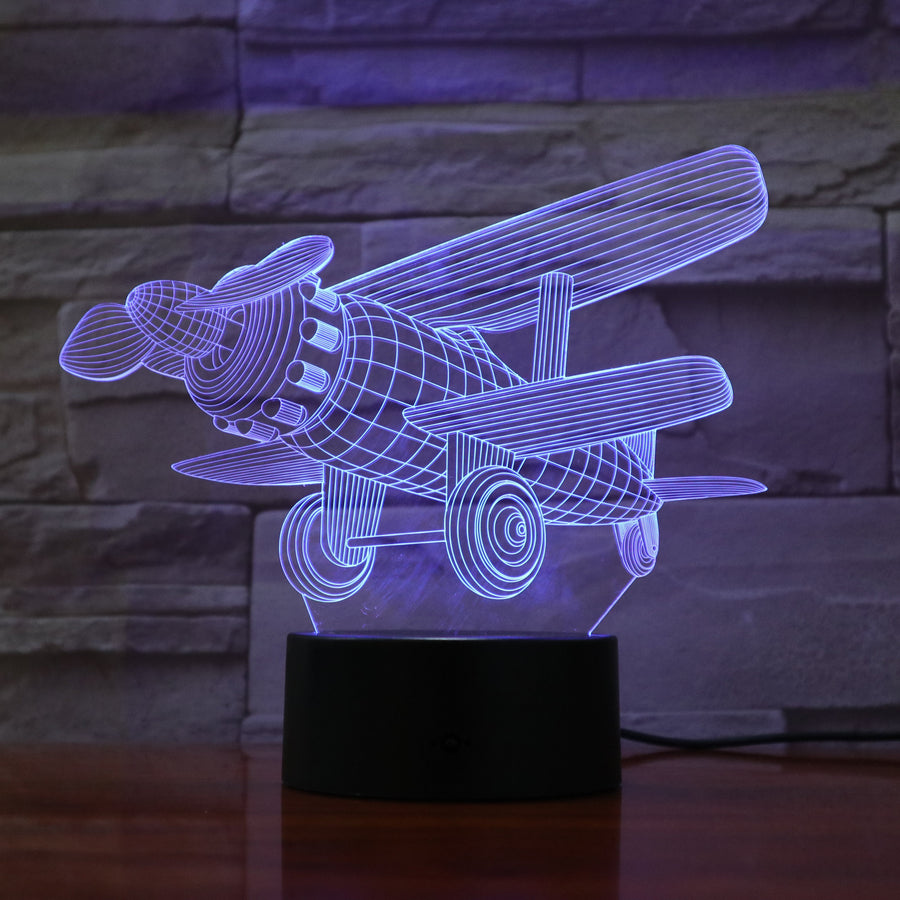 Plane - 3D Optical Illusion Lamp Night Light