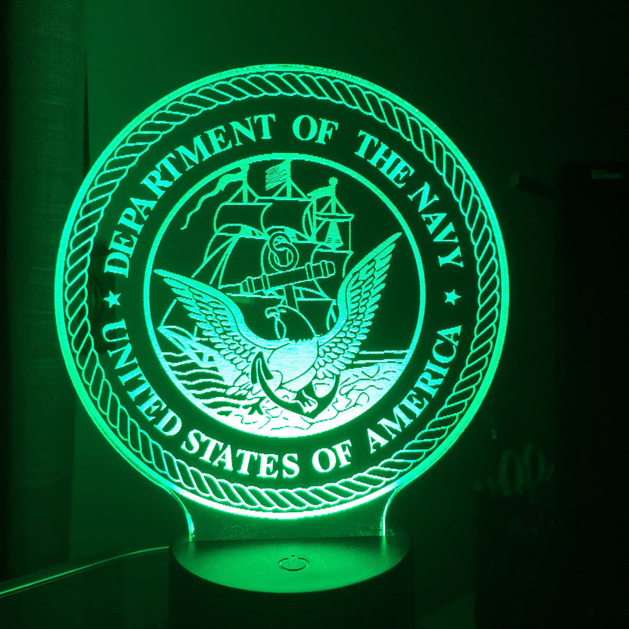 United States Navy - 3D Optical Illusion Lamp Night Light