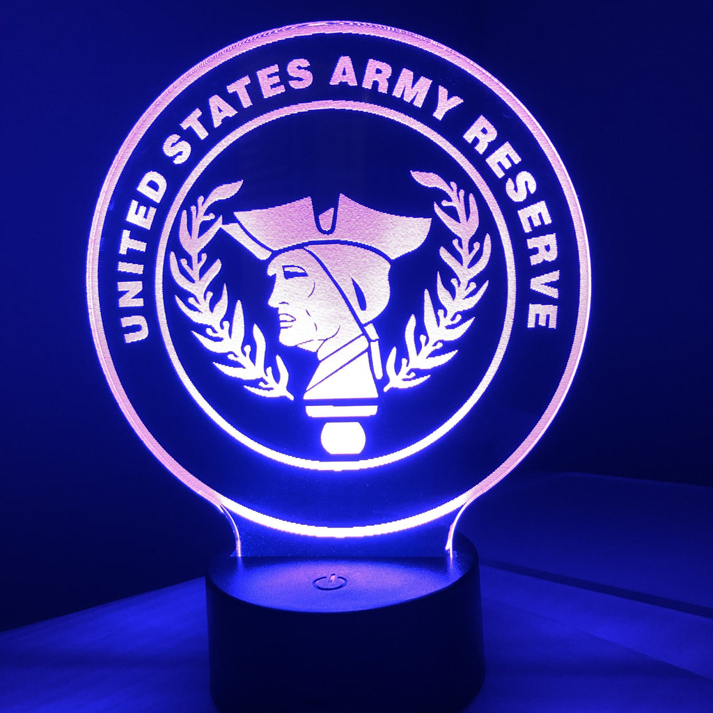 United States Army Reserve - 3D Optical Illusion Lamp - carve-craftworks-llc