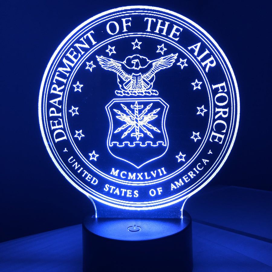 United States Air Force - 3D Optical Illusion Lamp Night Light