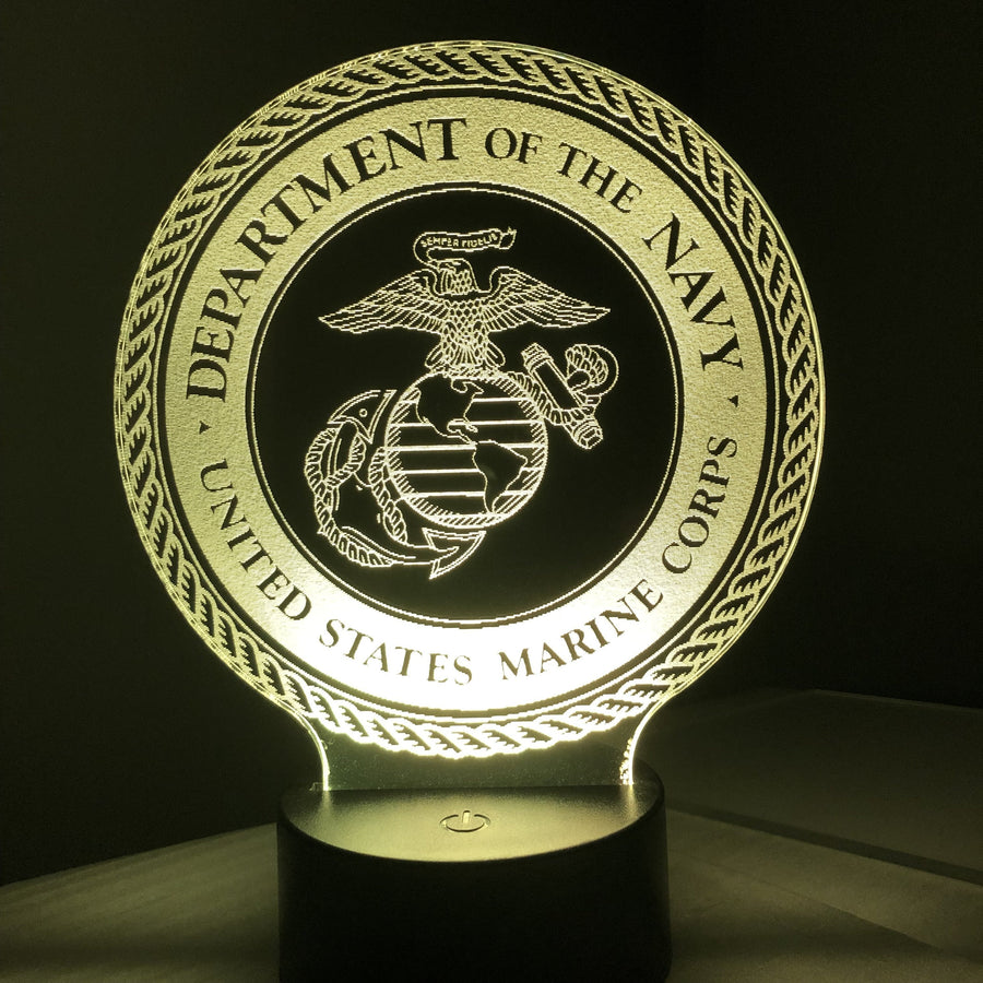 United States Marine Corps - 3D Optical Illusion Lamp Night Light