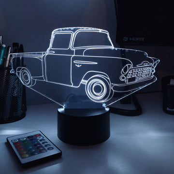 Old Pickup Truck - 3D Optical Illusion Desk Lamp