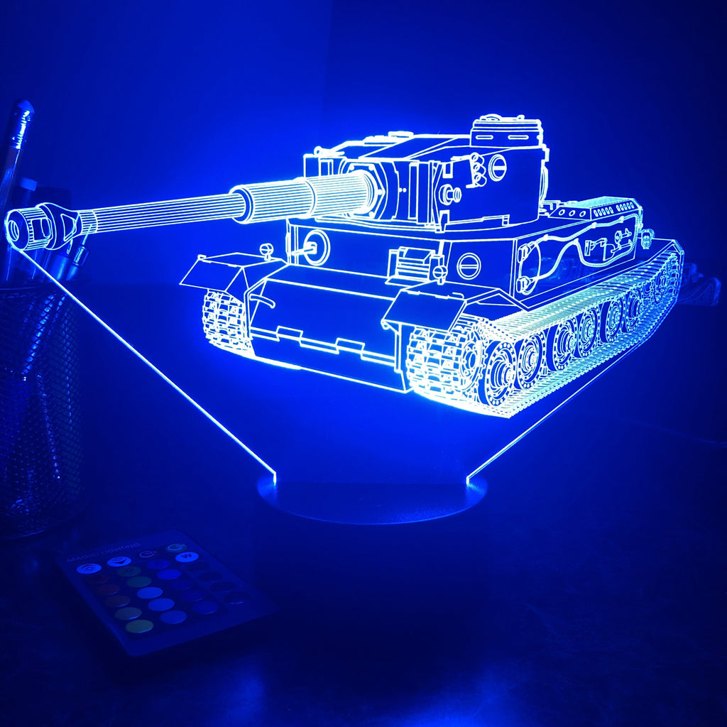 VK 45.01 German Heavy Tank  - 3D Optical Illusion Lamp - carve-craftworks-llc