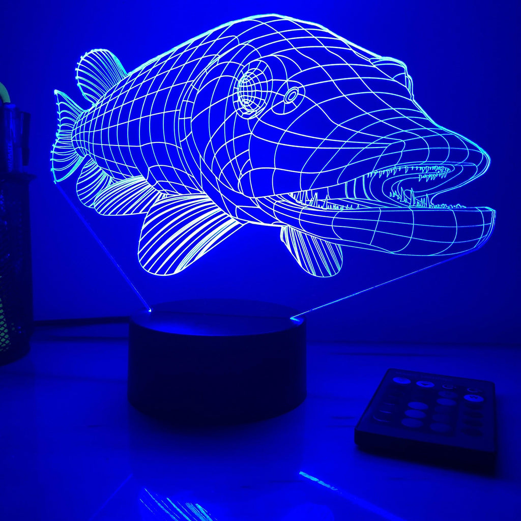 Northern Pike - Animal - 3D Optical Illusion Lamp