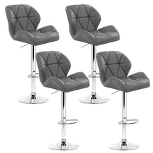 Load image into Gallery viewer, Artiss Set of 4 Kitchen Bar Stools - Grey and Chrome