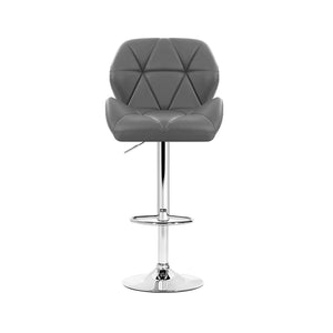 Artiss Set of 4 Kitchen Bar Stools - Grey and Chrome