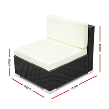 Load image into Gallery viewer, 2PC Gardeon Outdoor Furniture Sofa Set Wicker Rattan Garden Lounge Chair Setting
