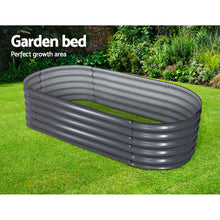 Load image into Gallery viewer, Greenfingers 160X80X42CM Galvanised Raised Garden Bed Steel Instant Planter
