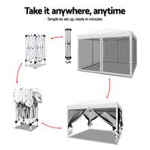 Load image into Gallery viewer, Instahut Gazebo Pop Up Marquee 3x3m Wedding Mesh Side Wall Outdoor Gazebos White