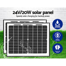 Load image into Gallery viewer, LockMaster 1000KG Swing Gate Opener Auto Solar Power Electric Kit Remote Control