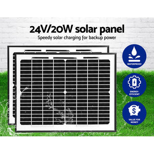 LockMaster 1000KG Swing Gate Opener Auto Solar Power Electric Kit Remote Control