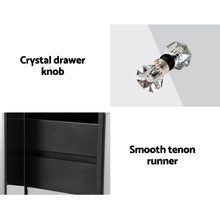 Load image into Gallery viewer, Artiss Mirrored Bedside table Drawers Furniture Mirror Glass Quenn Silver