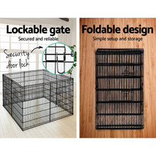 "Load image into Gallery viewer, i.Pet 36"" 8 Panel Pet Dog Playpen Puppy Exercise Cage Enclosure Play Pen Fence"