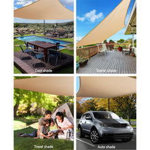 Load image into Gallery viewer, Instahut Shade Sail Cloth Rectangle Shadesail Heavy Duty Sand Sun Canopy 6x6m