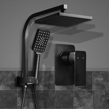 Load image into Gallery viewer, Cefito WELS 8'' Rain Shower Head Mixer Square Handheld High Pressure Wall Black