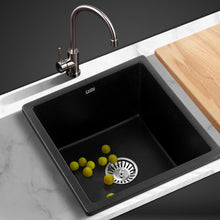 Load image into Gallery viewer, Cefito Stone Kitchen Sink 450X450MM Granite Under/Topmount Basin Bowl Laundry Black