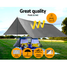 Load image into Gallery viewer, Instahut 3x4.5m Tarp Camping Tarps Poly Tarpaulin Heavy Duty Cover 180gsm Silver