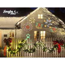 Load image into Gallery viewer, Jingle Jollys Christmas Motif Lights LED Spinner Light Waterproof Colourful