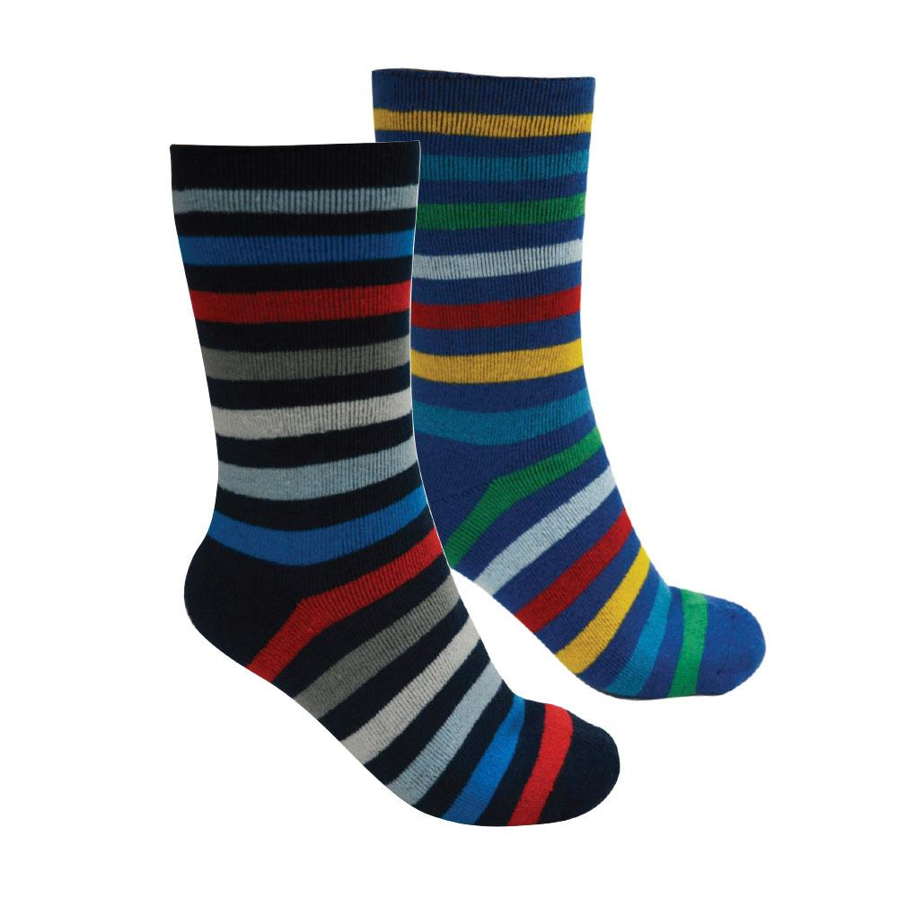 Kids Thermal Socks Twin Pack Blue/ Dark Navy