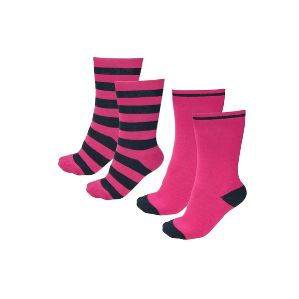 THERMAL SOCKS - TWIN PACK BRIGHT PINK/DARK NAVY