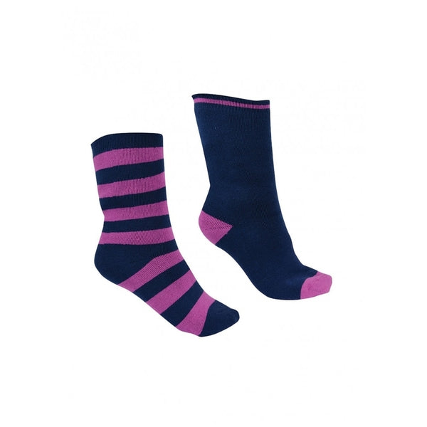 THERMAL SOCKS - TWIN PACK PURPLE ORCHID/NAVY